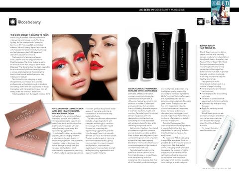 COS Beauty Magazine Press As Seen In