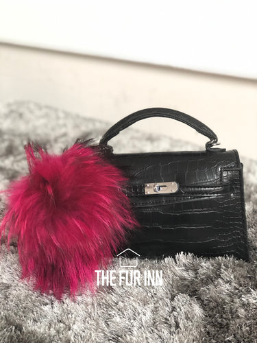 Rosa Fox Fur Bag Charm