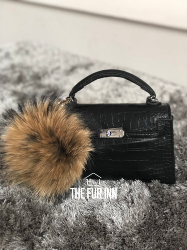 Natural Fox Fur Bag Charm