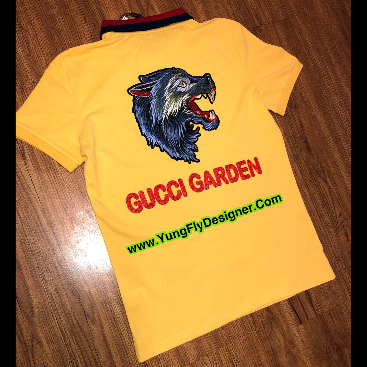 b28aa5cbeff8 Yellow Gucci Garden Polo - $95.00 – Young Fly Designer