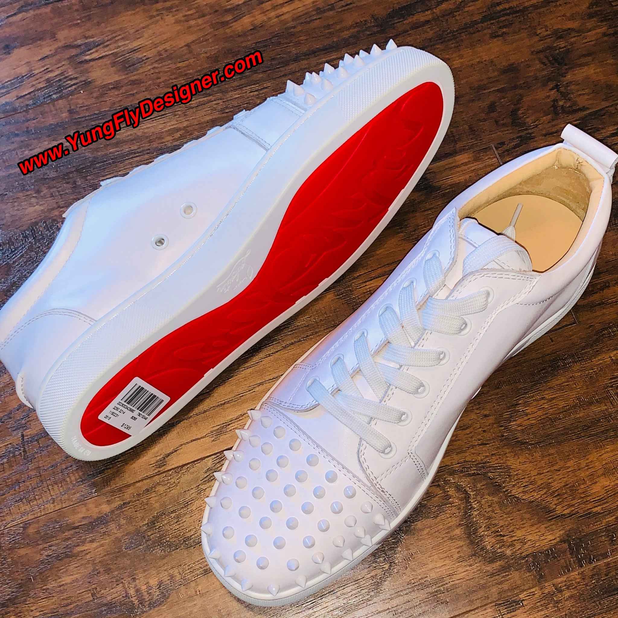 best website c67fb c554c Low Top White Christian Louboutin - $350.00 – Young Fly Designer