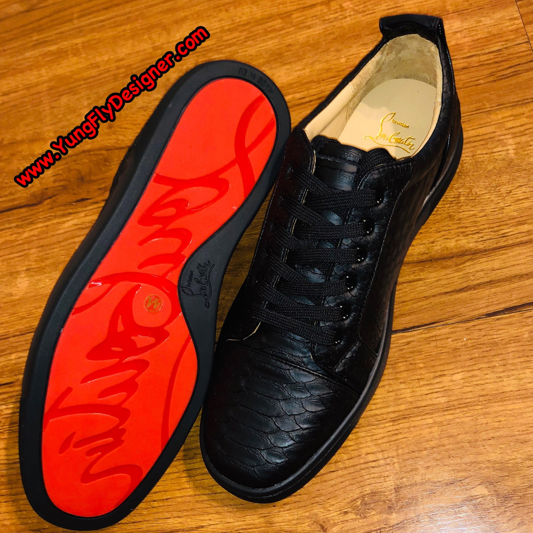 wholesale dealer fee29 6ff4b Black Snake Skin Christian Louboutin - $345.00 – Young Fly ...