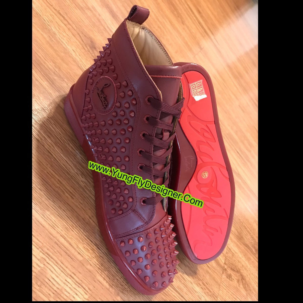 low priced a5d06 8479e Burgundy Christian Louboutin Sneaker- $350.00