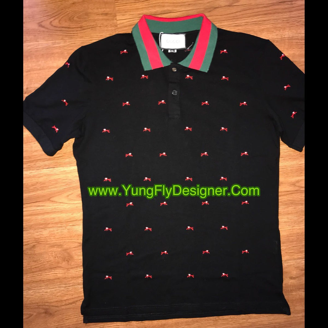 6e63e89cf71e Black Cat Gucci Polo - $ 95.00 – Young Fly Designer