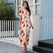 Simplee Floral print summer dress