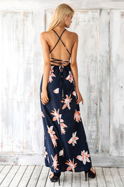 Simplee Boho deep v neck backless