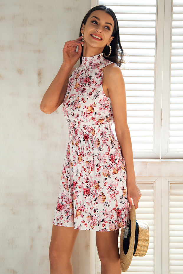 Simplee Sleeveless floral print summer