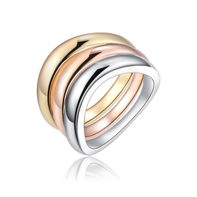 3Pcs/Set Rose Gold Silver Color Rings