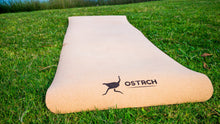 "Ostrch Cork Yoga Mat with Carrying Strap - 72""L x 24""- 4mm Thickness Natural Non-Slip"