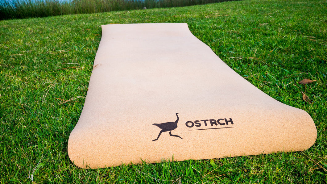 Ostrch Cork Yoga Mat with Carrying Strap - 72