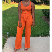 Load image into Gallery viewer, Square Neck Belted Jumper | Orange - Noir Envy