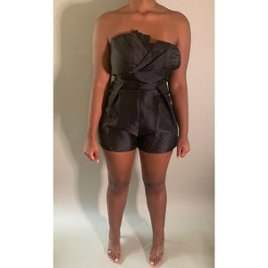 Off Shoulder Romper - Noir Envy