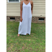 Load image into Gallery viewer, Relaxed Flow Striped Cami Adjustable Strap | Grey | Up to 3X - Noir Envy