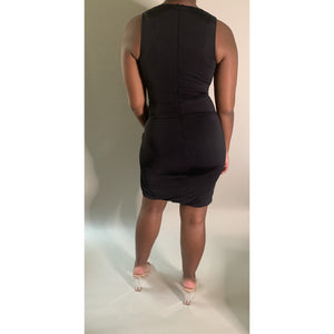 High Split Mini Dress - Noir Envy