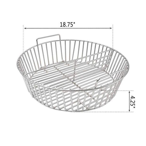 Barbecue Stainless Steel Charcoal Ash Basket Fits for XLarge Big Green Egg Grill