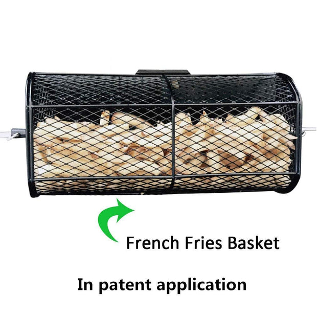 Universal Rotisserie Grill Peanut Beans French Fries Basket Fits for Any Grill