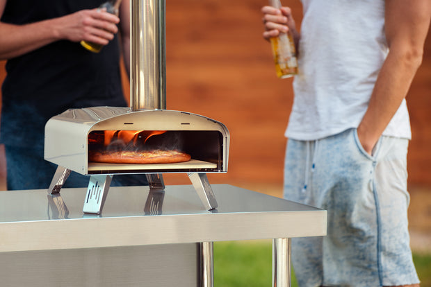 Q PIZZA Classic W-Oven Portable Wood Pellet Pizza Oven with Pizza Stone for Outdoor Cooking