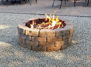 Onlyfire 30 Inches Black Steel Round Fire Pit Burner Ring, Tripple Ring