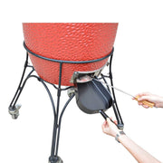 Barbecue Ash Pan Fits for Kamado/Ceramic Grill Likes Big Green Egg,Kamado Joe,Pit Boss,Char-Griller etc