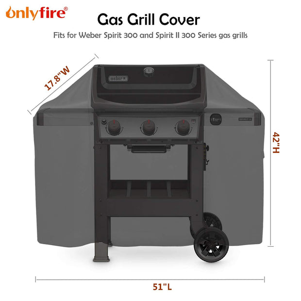 Onlyfire Grill Cover Fits for Weber 7139 Spirit II 300 Series Gas Grill