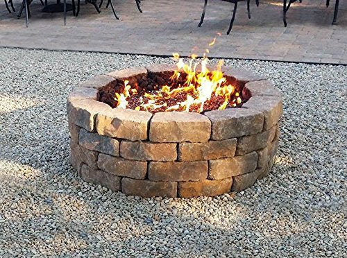 Onlyfire 18 Inches Black Steel Round Fire Pit Burner Ring, Double Ring