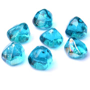Fire Glass Diamonds for Fire Pit, Fireplace, Lanscaping, 10 Pound, 1/2 Inch, Caribbean Blue Luster