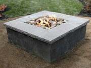 18-inch Stainless Steel Square Fire Pit Burner, Double Ring
