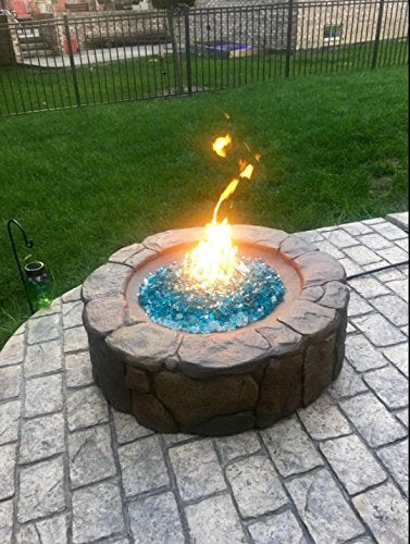Onlyfire 12-Inch Black Steel Round Fire Pit Burner Ring, Double Ring