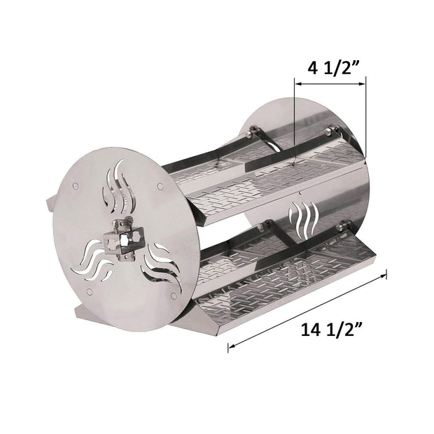 Grill Rotating Stainless Steel Rotisserie Trays Kit-Fits for Any Grill