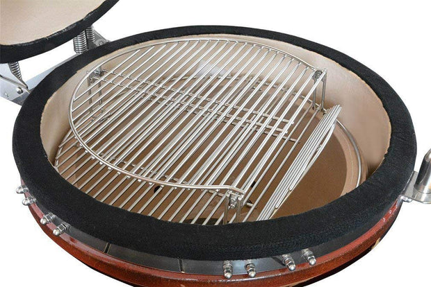 Stainless Steel Expander Cooking Grate Fits for Charcoal Kettle Grills Like Weber,Char-Broil and Ceramic Grills Like Large Big Green Egg,Kamado Joe Classic