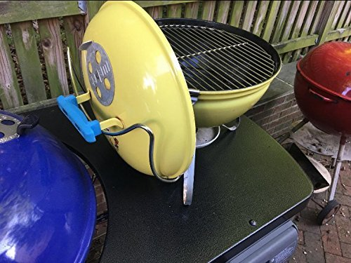 "Slide-a-Side Stainless Steel Lid Holder Fits for 18""/22""/26"" Charcoal Kettle Grills"