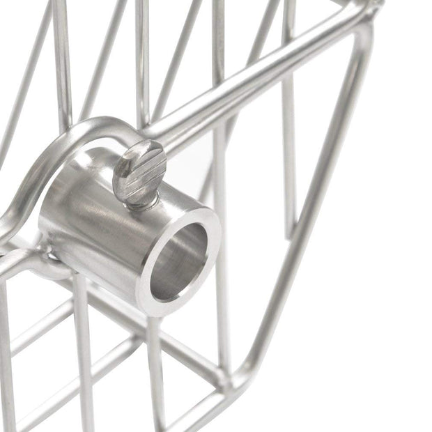 Stainless Steel Tumble Rotisserie Spit Rod Basket Fits for Any Grill