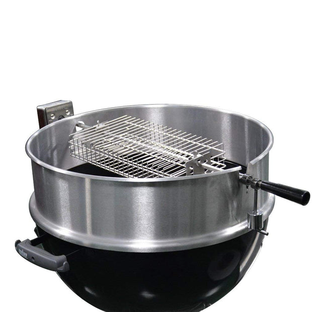 "Chrome Plating Flat Rotisserie Basket Fits 1/2"" Hexagon, 3/8"" Hexagon, 3/8"" & 5/16"" Square Spit Rods for Any Grill"