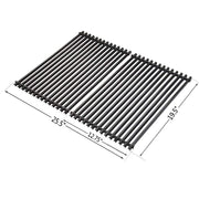 only fire Replacement Cooking Grill Grid Grates Porcelain-Enamel Rectangle (12.75'' x19.5'' x0.4'') fits for Weber 7528, Set of 2