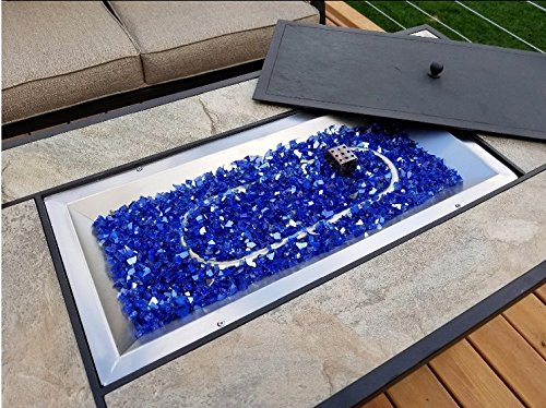 Reflective Fire Glass for Fire Pit, Fireplace, Lanscaping, 10 Pound, 1/4 Inch, Cobalt Blue Reflective