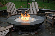 Onlyfire 24 Inches Black Steel Round Fire Pit Burner Ring, Double Ring