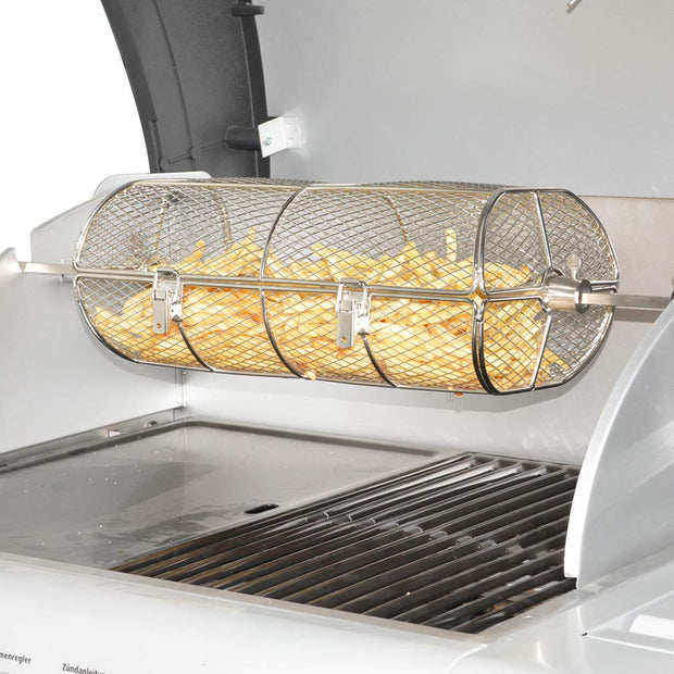 Universal Stainless Steel Rotisserie Grill Basket Fits for Any Gas Grill