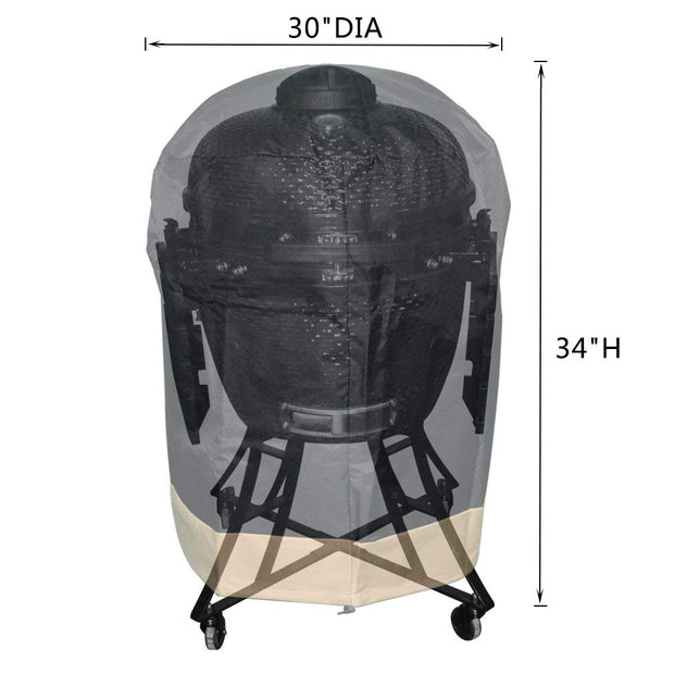 "Kamado Grill Cover Fits for Large Big Green Egg,Kamado Joe Classic and Large Grill Dome,Louisiana K22,Coyote The Asado Cooker and Other,30"" Dia X 34"" H"
