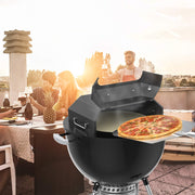 "only fire Stainless Steel Pizza Oven Kit - Including Pizza Chamber and Pizza Stone - Pizza Grilling Tool Sets for Weber and Most 22"" Charcoal Kettle Grill"