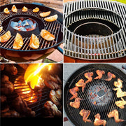 onlyfire Stainless Steel BBQ Vortex Grilling Accessories Without Water Divider for Weber Kettle and Ceramic Grills