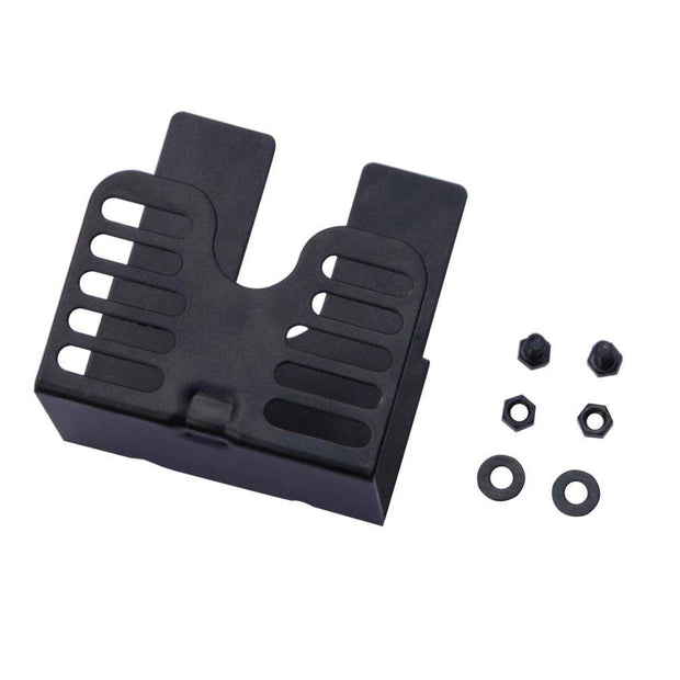 Universal Grill 3 Inch Slide Rotisserie Motor Bracket, 2 pcs Screw, Black