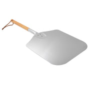 "Large Aluminum Pizza Peel with Wooden Handle For Any Pizza Grill Oven, 13.5"" x 16"""