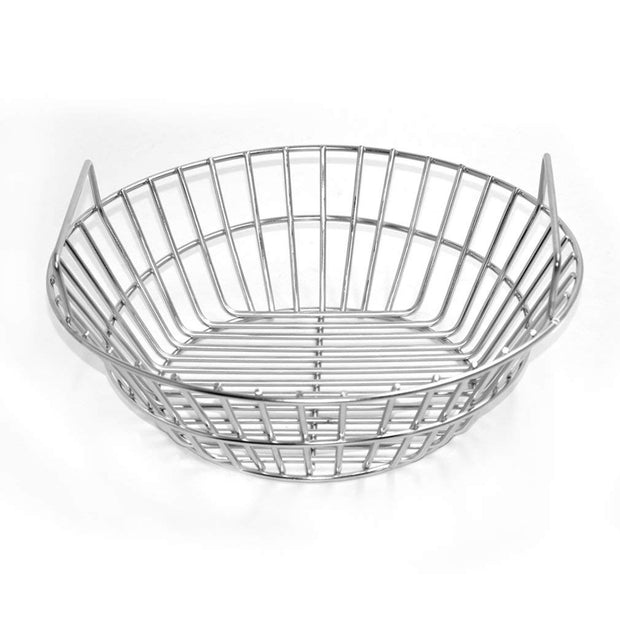 Stainless Steel Charcoal Ash Basket Fits for Large Big Green Egg Grill, Kamado Joe Classic, Pit Boss, Louisiana Grills,Primo Kamado Grill and Large Grill Dome