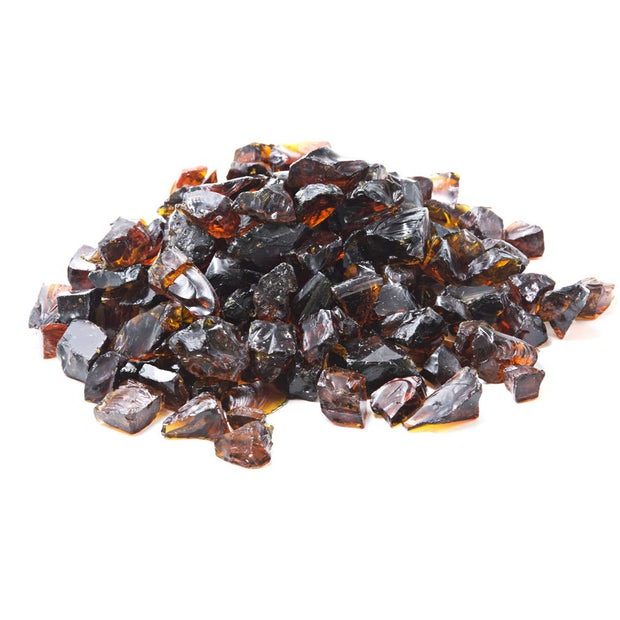Mr. Fireglass Recycled Fire Glass for Natural or Propane Fire Pit,Fireplace and Fire Table,10 lb,Amber