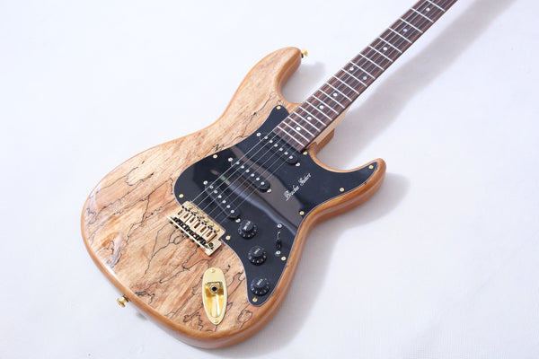 Solid body ST, with Spalted Maple top , NEW FOR 2020 and Ready for You - Bracken Guitars