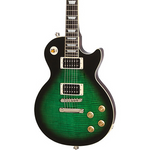 Arch Top LP Guitar Moss Green stained Flamed Maple with Dark Sun Burst - Bracken Guitars