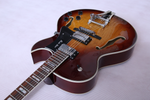 Arch Top Jazz with Guitar Manchurian Ash Top and Tobacco Burst - Bracken Guitars