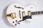 Arch Top Jazz Guitar in Antique White - Bracken Guitars