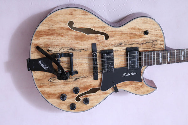 Arch Top Jazz with Spalted with Maple Top - Bracken Guitars