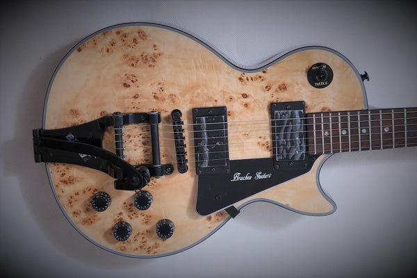 Arch Top LP Guitar with Birds Eye Maple Top - Bracken Guitars